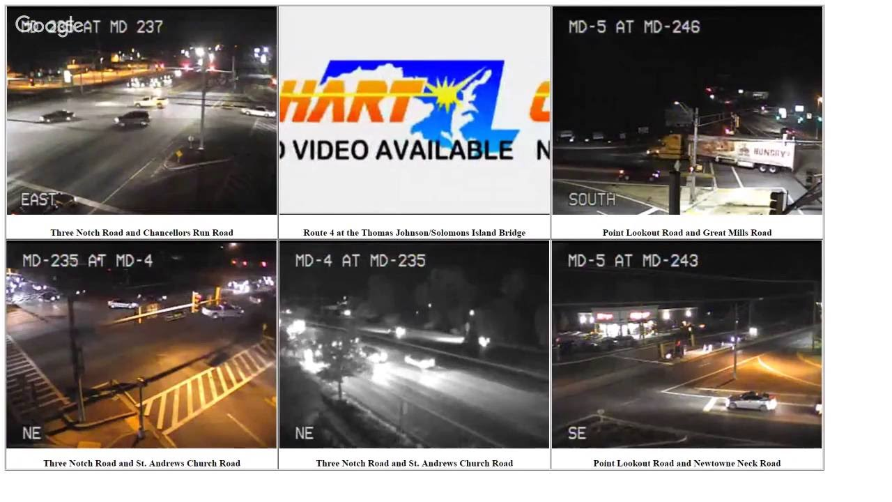 LIVE St. Mary's County Traffic Cameras - YouTube