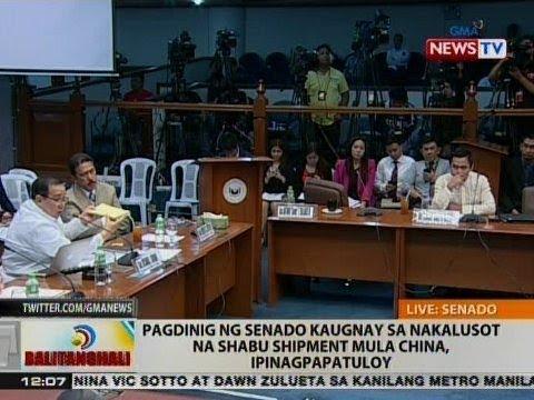 BT: Pagdinig ng Senado kaugnay sa nakalusot na shabu shipment mula China, ipinagpapatuloy