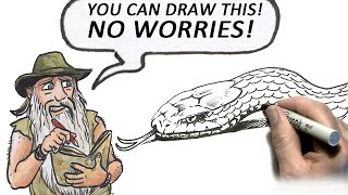 How to Draw a Snake (Intermediate level)