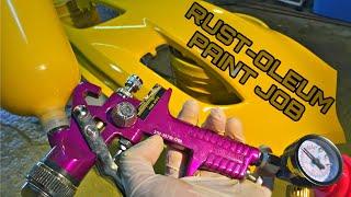Harbor Freight Spray Gun (Rustoleum  Paint Job) LOOKS AMAZING!