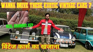 Biggest Vintage Car Exibition | Cars From Delhi, Chandigarh and Jaipur