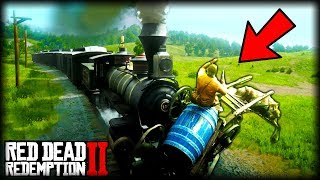 Can You DERAIL THE TRAIN? - Red Dead Redemption 2 Gameplay and Funny Moments