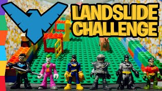 Nightwing Lego Landslide Challenge ft  Batman Toys Batgirl Joker Gordon Robin by ToyRap