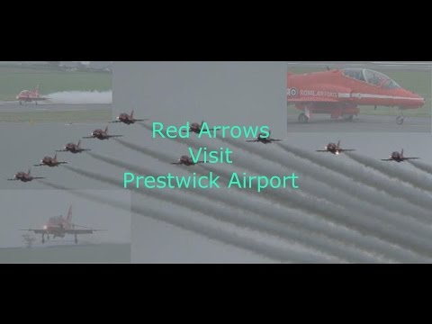 Red Arrows Visit Prestwick Airport June 2015