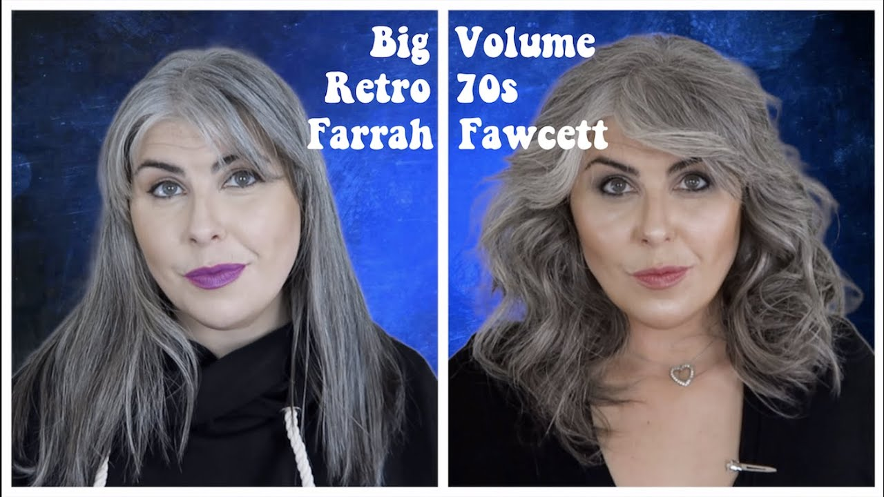 Big Volume Curls 70s Retro Farrah Fawcett Hair Tutorial Youtube