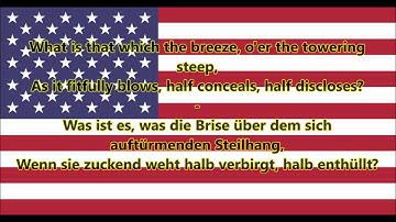 Nationalhymne der USA - Das sternenbesetzte Banner (EN/DE Text)