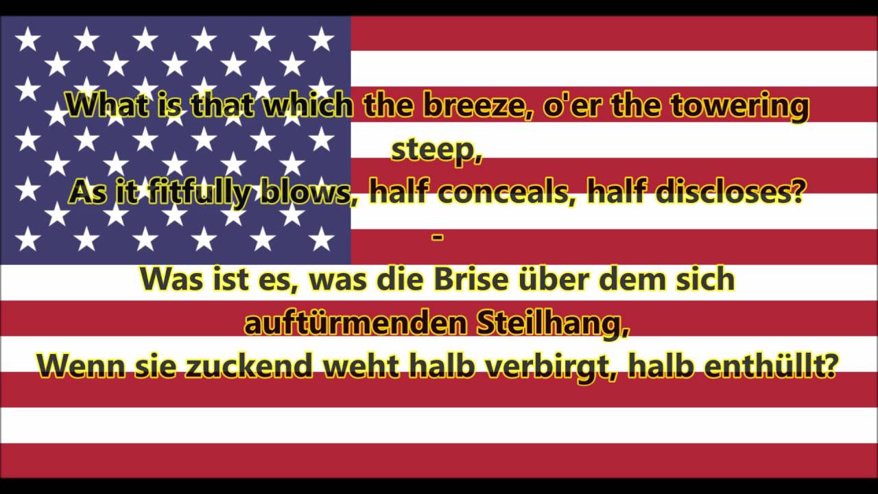 amerikanische nationalhymne