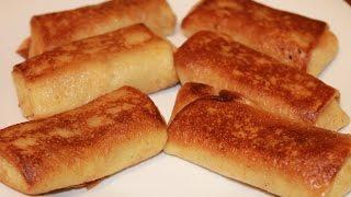 Фаршированные блинчики с мясом и сливочным соусом (Бешамель)