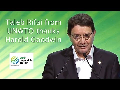 🌍 United Nations World Tourism Organisation Congratulates Harold Goodwin 🌍