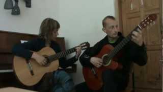 Paul Mauriat - Love is blue by Sasha Skoruk + Ed (guitar).
