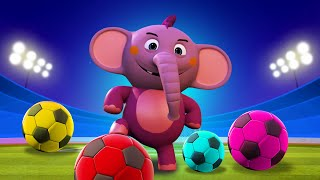 Learn Colors with Soccer Ball Match | Educational Cartoons for Children | ABC Learning Club