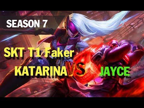 Season 7 SKT T1 Faker KATARINA vs JAYCE l LOL League of legends