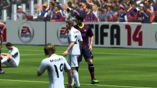 FIFA 14 - FC Barcelona Vs Real Madrid (Xbox 360, PS3, PC) Gameplay