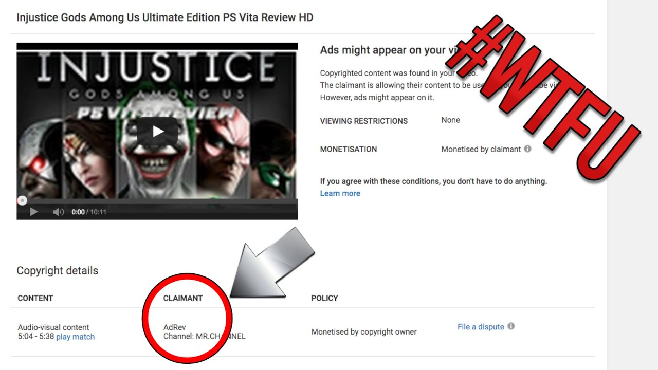 False Copyright Strike from YOUTUBE CERTIFIED NETWORK!! #WTFU ...