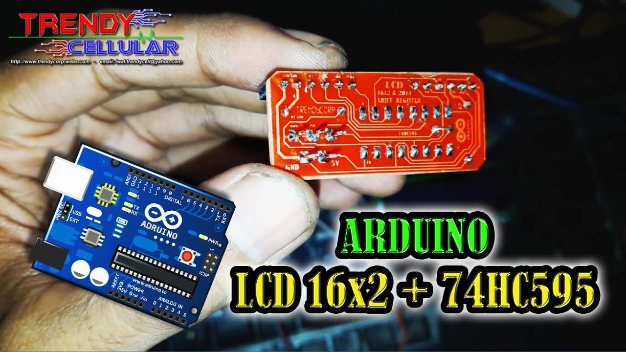 Shift Register Lcd Arduino Youtube With 74hc595 8211 Part 1