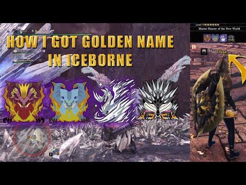 How I Cleared MR200 Master Hunter Of New World And Got Golden Name   Monster Hunter: World Iceborne.