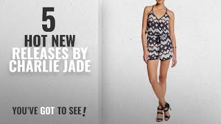 Hot New Charlie Jade Women Clothing [2018]: Charlie Jade Print T-Back Romper For Women In Pink