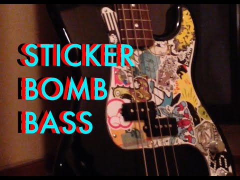 Sticker Bombed Fender Precision Bass Youtube