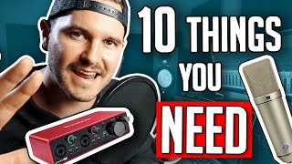10 Things You Need In A Home Studio