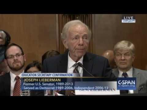 Sen. Lieberman: DeVos Can Change Status Quo & Secure A Better Future For Our Kids