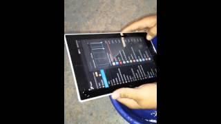 Tablet sony xperia z sumergida