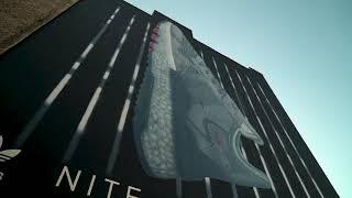 Adidas Nite Jogger Mural by Xi Design Streetart Urban Art Berlin Videoproduktion Berlin