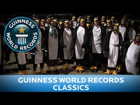 Guinness World Records Day 2013 - Most People Dressed As Penguins