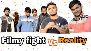 Filmy fight vs reality || short video || sahawarian stars