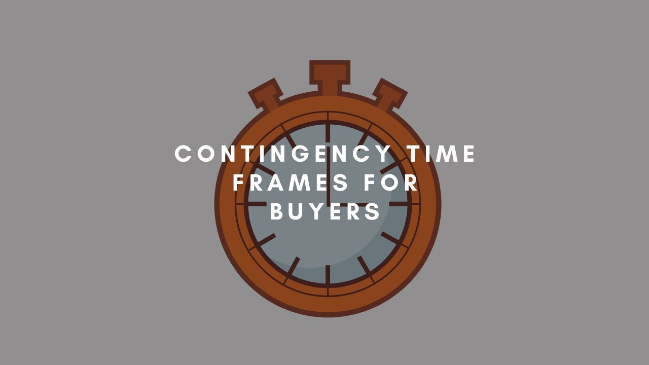 Contingency Timeframes Buyer Version