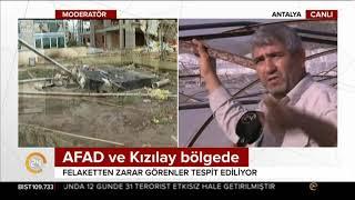 CANLI YAYIN / Antalya'da hortum dehşeti / 24 TV / 14 Kasım 2017
