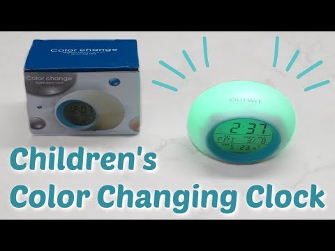 Color Changing Kid's Alarm Clock - Review & Demo!
