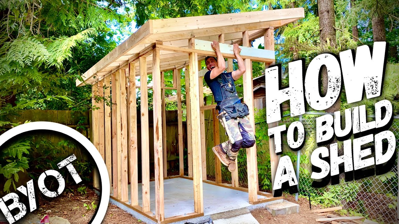 Download BUILDING A LEAN TO SHED // START TO FINISH (Part 1 of 2)