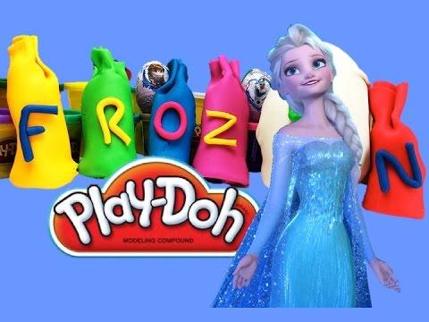 Play Doh Frozen Surprise eggs Плеи до Холодное сердце киндер сюрпризы Анна Эльза