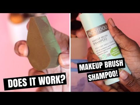 How To Clean Makeup Brushes | EcoTools Makeup Brush Shampoo Review!