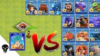 Goku vs All Troops | 1 Goku vs All Max Troops Clash of Clans Epic Battle