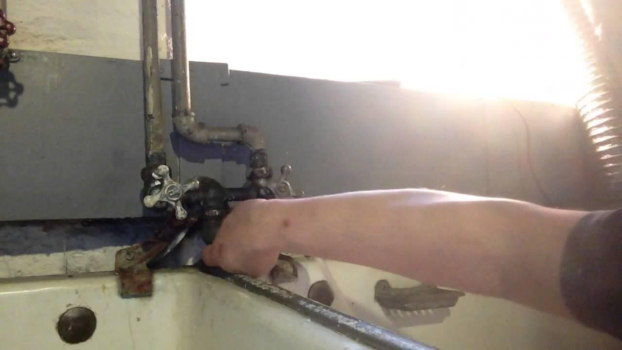 Fix Leak Antique Faucet Spicket Laundry Tubs Part 2 Youtube