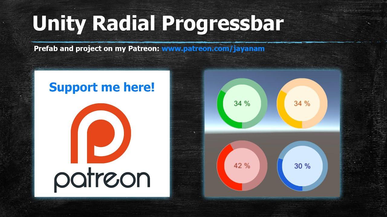 Unity 5 UI tutorial : Radial Progressbar asset