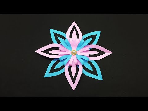 Christmas Snowflakes DIY - 3D Paper Snowflake - Christmas Craft Decoration Ideas