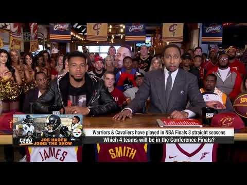 Stephen A  Smith  Warriors, Thunder, Celtics, Cavaliers in NBA Conference Finals   First Take   ESPN