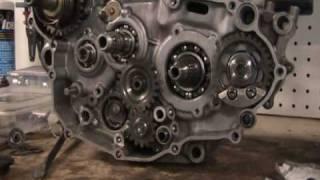 Part 21: Balancer shaft and kickstart idle gear. YZ250F example