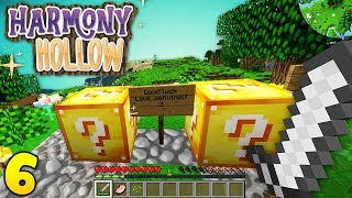 LUCKY BLOCKS OUTSIDE MY HOUSE?? Minecraft Harmony Hollow EP6 - Modded SMP S4