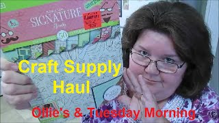 Craft Supply Haul (Ollie