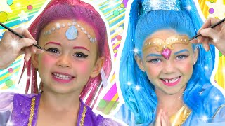 Shimmer and Shine Face Paint | WigglePop