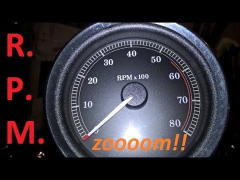 Motorcycle RPM Revolutions Per Minute