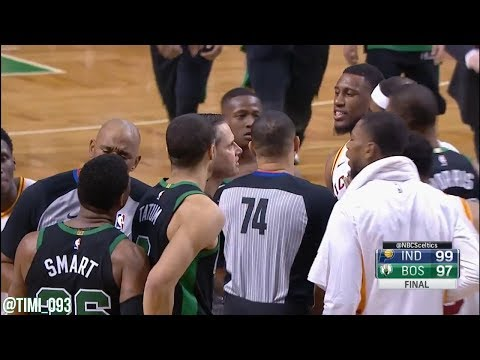 Boston Celtics Last Two Minutes of Game vs Indiana Pacers (03/11/2018)