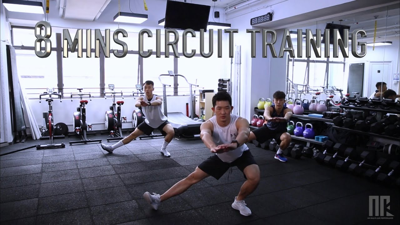 8分鐘爆汗循環訓練 | 8 minute fat burning Circuit Training for Beginners| 家居運動Fitness at HOME | Coach MK