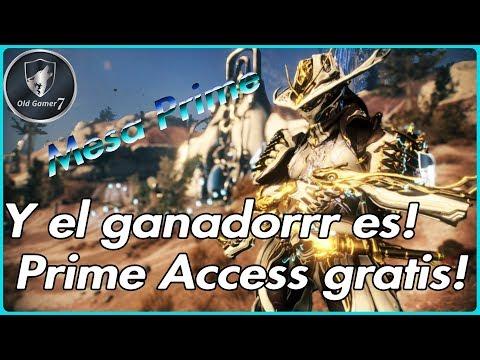 WARFRAME (PARTNER) MESA PRIME ACCESS! TENEMOS AL GANADOR DEL SORTEO DE LOS 9K SUBS! thumbnail