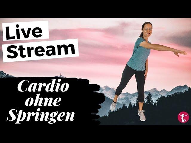 Live Stream: Cardio Workout für Zuhause ohne Springen | 15 Min Ausdauertraining