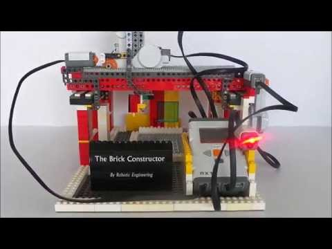 the lego mindstorms 3d printer part 1: The brick constructor - YouTube
