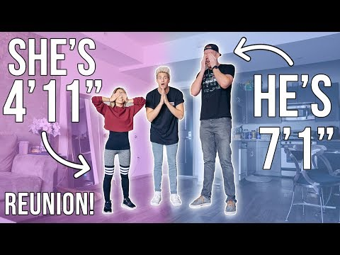 7ft TALL GUY REUNITES WITH 4ft TALL GIRL 8 MONTHS LATER!